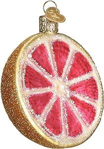 Old World Christmas Glass Blown Ornament Grapefruit (28117)