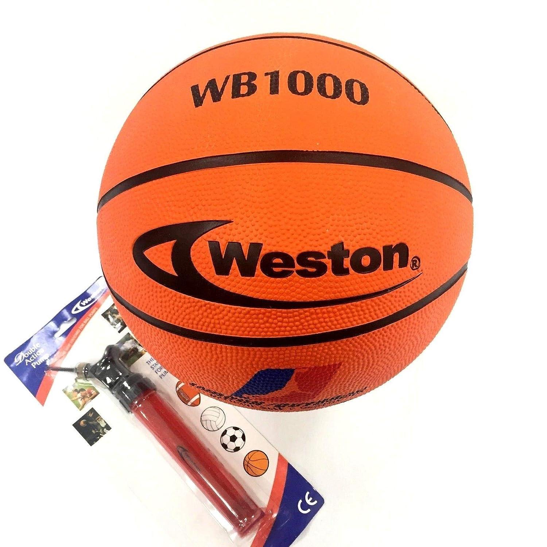 Weston WB1000 Balón de Baloncesto con Bomba Manual de Entrada ...