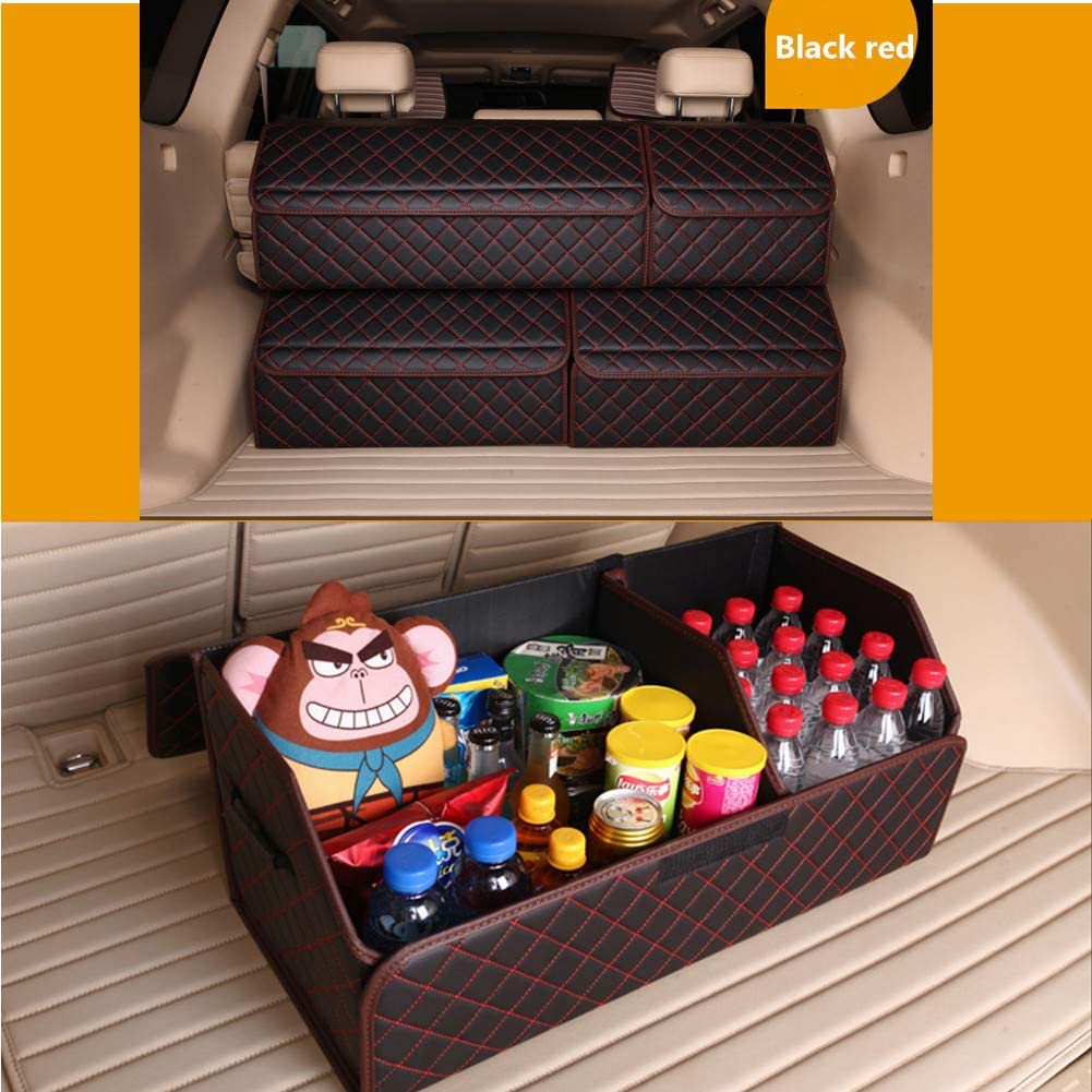 Yafeco 22 inch Multipurpose Collapsible Car Trunk Storage Organizer with Lid Portable Car Storage Box Bin SUV Van Cargo Carrier Caddy for Shopping Camping Picnic Home Garage