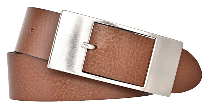 9b7e7bf34847 Mytem-Gear Damen Leder Gürtel 35 mm Nappaleder Damengürtel (85 cm, cognac)