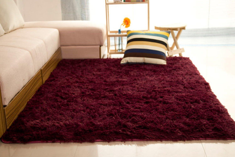 CULASIGN Tapis Shaggy Design Moderne pour Chambre denfant Confortable Poils Hauts Longs Moelleux Le Salon /à Coucher Decor Rug Beige,50x80cm