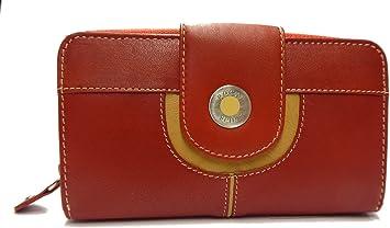 Cartera Billetero Mujer 100% Piel Hecha EN ESPAÑA - 3 Colores (Corinto Rojo): Amazon.es: Equipaje