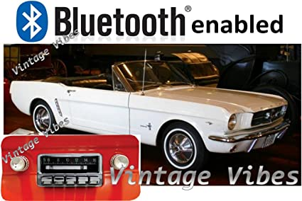 BLUKIT compatible with 1964-1966 Mustang USA-630 II Bluetooth Enabled High Power 300 watt AM FM Car Stereo//Radio Custom Autosound Stereo