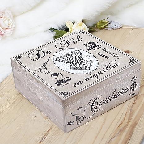 Anniversario Di Matrimonio In Francese.5th Wedding Anniversary Stile Francese A Tema Scatola Da Cucito In