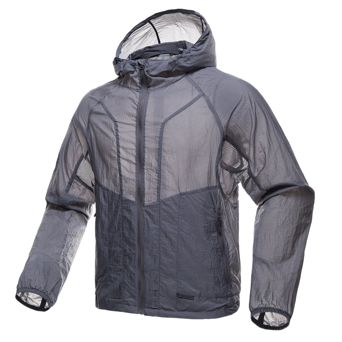 FREE SOLDIER Men's Tactical Jacket Lightweight Wind Breaker Jacket Water-Resistant Breathable Hiking Cycling Jacket (Gray, XXL) by FREE SOLDIER