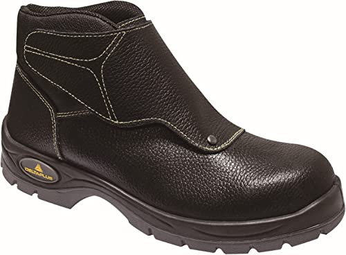 Delta Plus Panoply Cobra 3 S1P Mens Black Leather Welders Welding Safety Boots  XGMC3QFA2