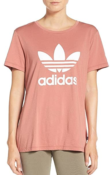 7fad963e907a6 Adidas Trefoil Womens Boyfriend Tee, Raw Pink, (XXS): Amazon.ca: Clothing &  Accessories