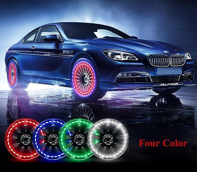 4X LED Tire Valve Cap Lamp Spoke light Flash For Bike Bicycle Car Motor Wheel LE