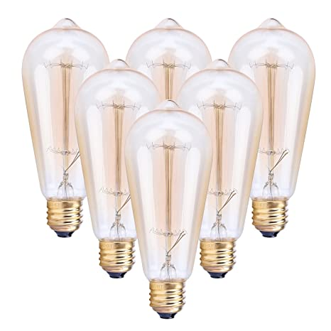 Smilism Edison Bulbs, 60w Dimmable Vintage Industrial Pendant ...