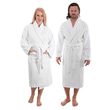 Classic Turkish Towels Luxury Terry Cloth Bathrobe - Premium Hotel Robes - Made with 100% Turkish Cotton