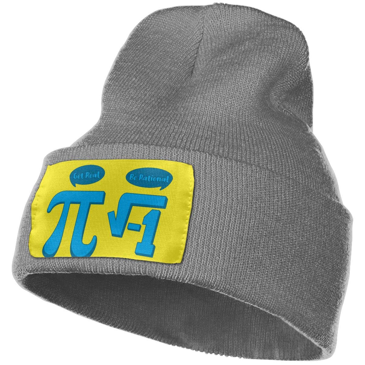 Get Real Be Rational 3 Wool Cap Beanie Hats Unisex Winter Deep Heather