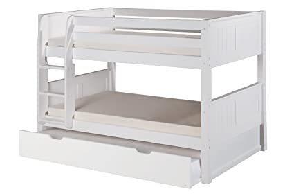 Amazon Com Camaflexi Panel Style Solid Wood Low Bunk Bed With