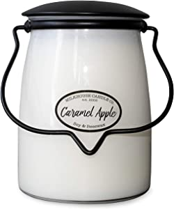 Milkhouse Candle Company, Creamery Scented Soy Candle: Butter Jar Candle, Caramel Apple, 22-Ounce