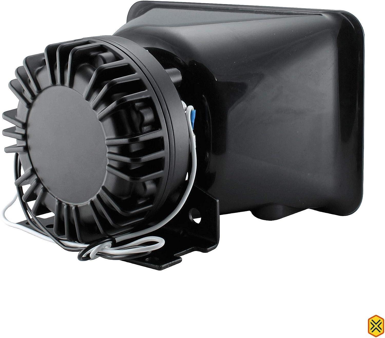 6 modos Soundalert Sirene /& Sistema De Pa Alto-Falante Slim Microfone 118-124dB 100W