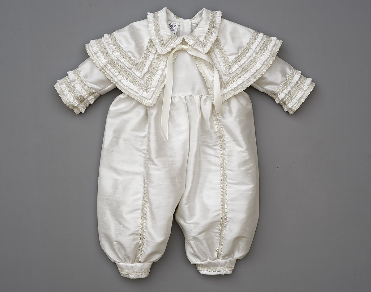 Heirloom Baby Boy's Christening Baptism Gown, Hand Made Ivory (Burbvus Ropones) by Burbvus (Image #8)