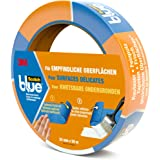 3M ScotchBlue Ruban Masquage pour Surfaces Délicates 24mm x 50m 1 Rouleau Bleu