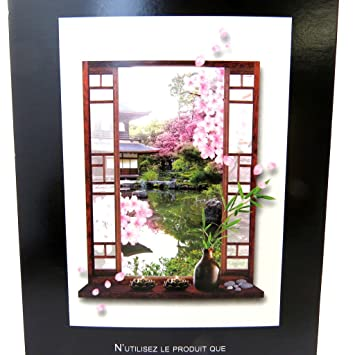 Les Trésors De Lily M5228 - Sticker trompe l\'oeil \'Jardin Japonais ...