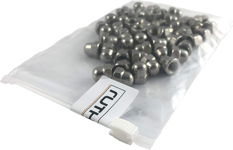 10 pcs Hutmuttern DIN 1587 m10 acier inoxydable a2 noire Hutmuttern