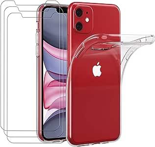 ivoler Funda para iPhone 11 6.1 Pulgadas + [3 Unidades] Cristal ...