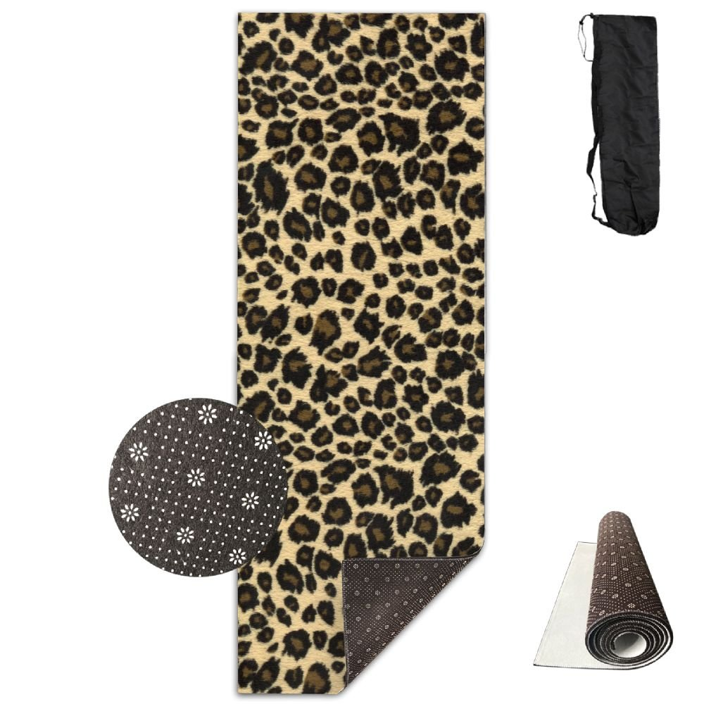 BINGZHAO Animal Leopard Print Design Exercise Yoga Mat For Pilates,Gym,Fitness, Travel & Hiking by BINGZHAO