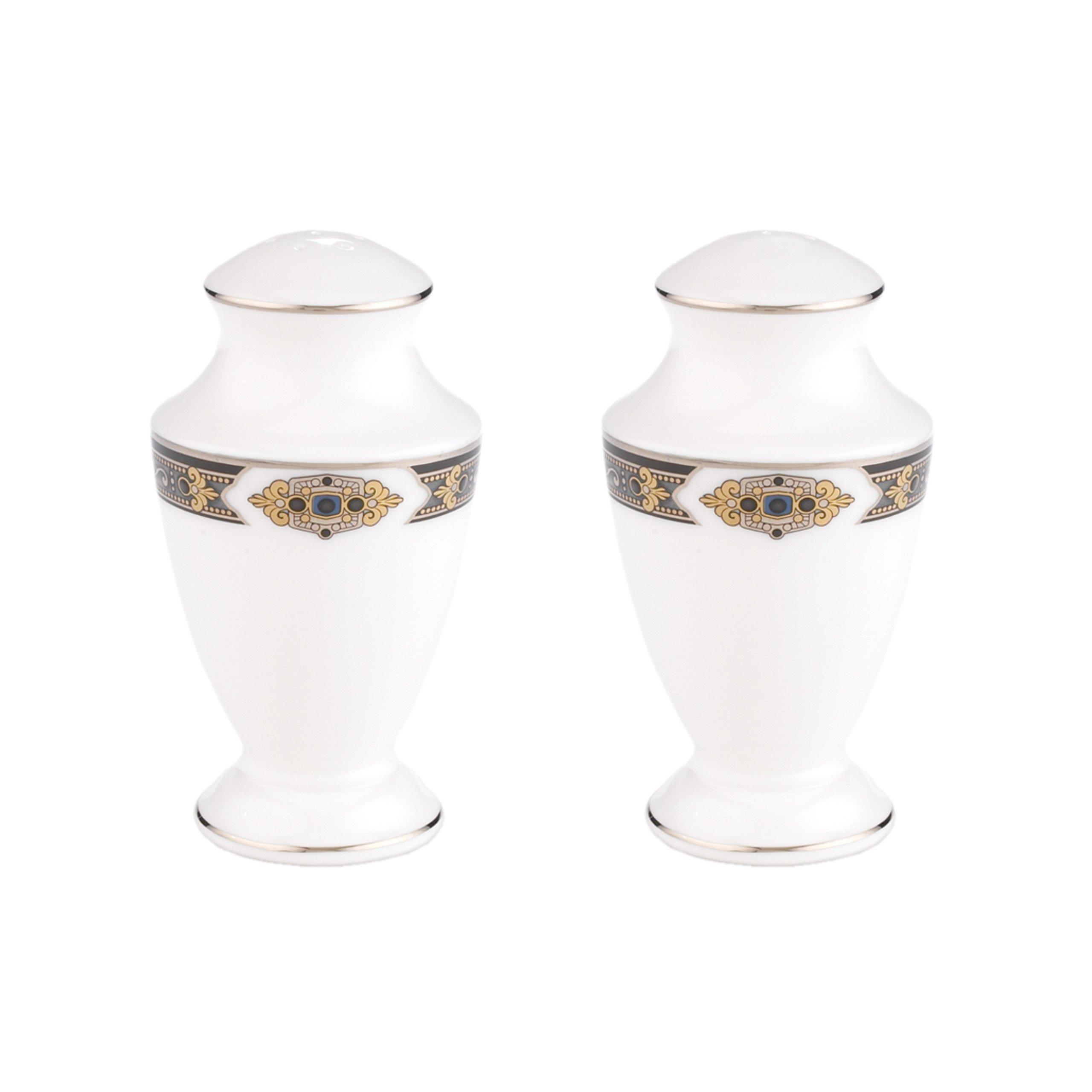 Lenox Vintage Jewel Salt and Pepper Set, White by Lenox