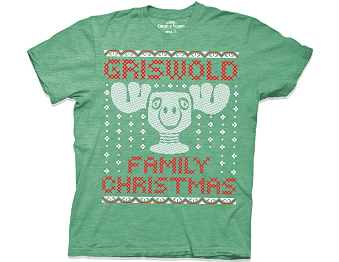 ripple junction national lampoons christmas vacation griswold family christmas moose mug faux sweater adult t