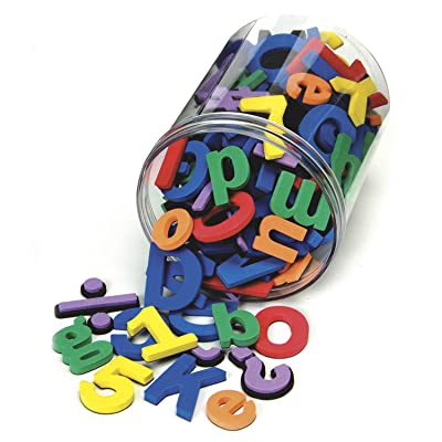 Chenille Kraft 4357 Wonderfoam Magnetic Alphabet Letters, Assorted Colors. 110/Pack (CKC4357): Office Products