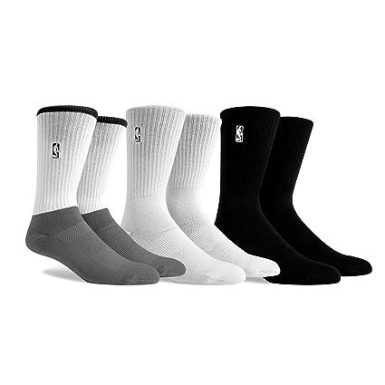 online store da9c2 4ec7c PKWY by Stance NBA Men s Logoman 3-Pack Socks (White Black Grey