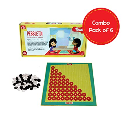 Toiing Pebbletoi 2-in-1 Strategy Board Game: Return Gift Combo Pack of 6