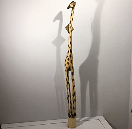 Handcarved Large 130cm Wooden Giraffe Stylish Fair Trade Ornament