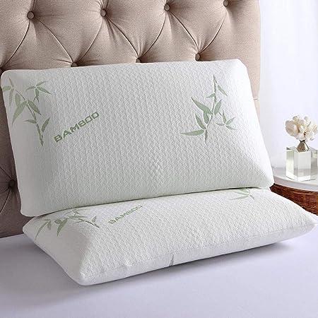 Memory Foam Bamboo Pillow, White