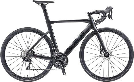 SAVADECK Bicicleta de Carretera Fibra de Carbono con Freno de Disco 700C con Juego de Ruedas de Carbono Shimano 105 R7020 22 gearset: Amazon.es: Deportes y aire libre