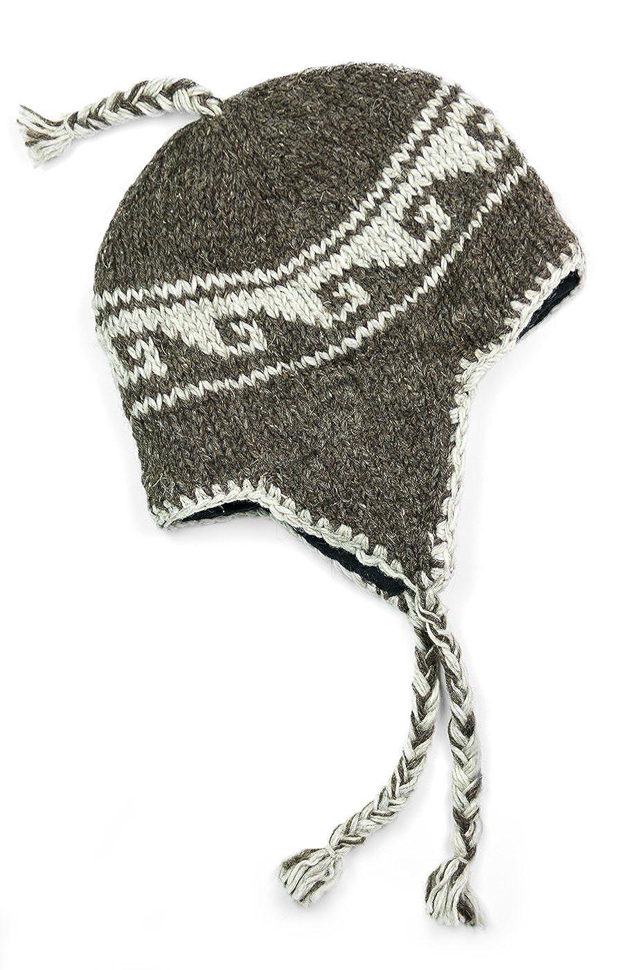 Three Cranes Gallery Men s Wool Sherpa Hat - Natural Brown at Amazon ... 14a9faaed30