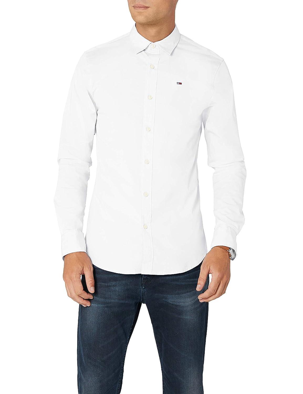 da093b1fecf Tommy Hilfiger Denim Men s 1957888891 Regular Fit Classic Long Sleeve T- Shirt - White - X-Small  Amazon.co.uk  Clothing