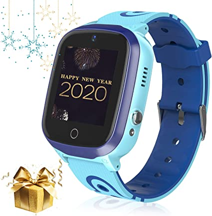 Kid Smart Watch Phone, WiFi/GPS/LBS Waterproof Smartwatch HD Touch Screen SOS Call Camera Games Alarm Clock Anti Lost Smartwatches with Games for ...
