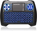 (2020 Latest, Backlit) ANEWISH 2.4GHz Mini Wireless Keyboard with Touchpad Mouse