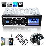 Elegiant - Sistema de audio estéreo para coche, reproductor FM, MP3, WMA, USB, SD, MMC, AUX, entrada, receptor y remoto integrados.