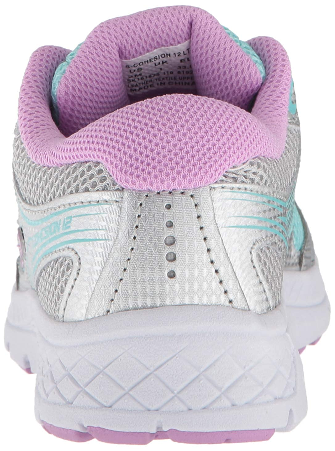 4bcb2f4c Saucony Unisex Cohesion 12 LTT Sneaker Turquoise/Silver 065 Wide US Big Kid