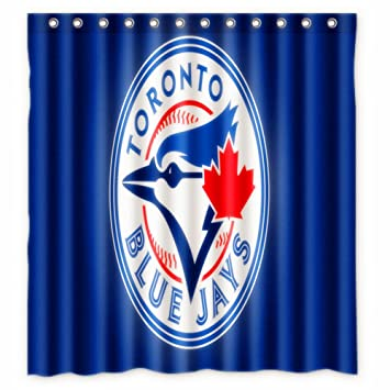 66 x72 inches Toronto Blue Jays Shower Curtain for Bathroom: Amazon ...