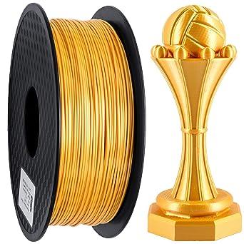 Filamento para impresora 3D PLA, filamento de seda de oro PLA de ...