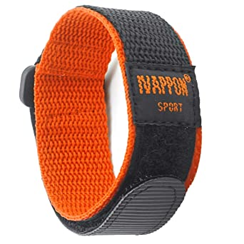 b2c1803f84 IVAPPON[アイーヴァポン] 時計ベルト マジックテープ カジュアル アウトドア スポーツ ナイロン ストラップ 腕時計用 (