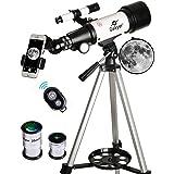 Gskyer Telescope, 70mm Aperture 400mm AZ Mount Astronomical Refracting Telescope for Kids Beginners - Travel Telescope with C