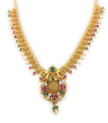 Buy Afj Gold 1 Gram Micro Gold Plated Traditional Designer Fashion