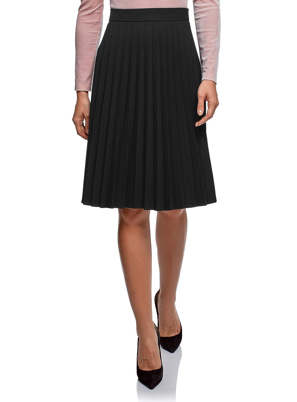 oodji Collection Women's Knee-Long Accordion Pleat Skirt RIFICZECH s.r.o. 21606020-2B