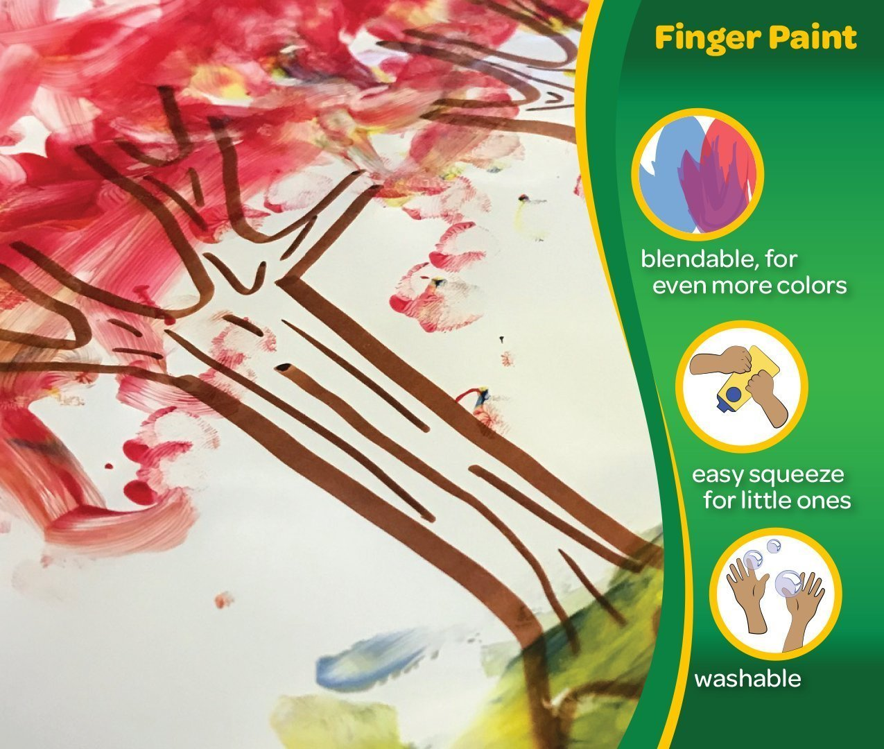 Crayola Washable FingerPaints, 6 Count 8 oz. by Crayola (Image #4)