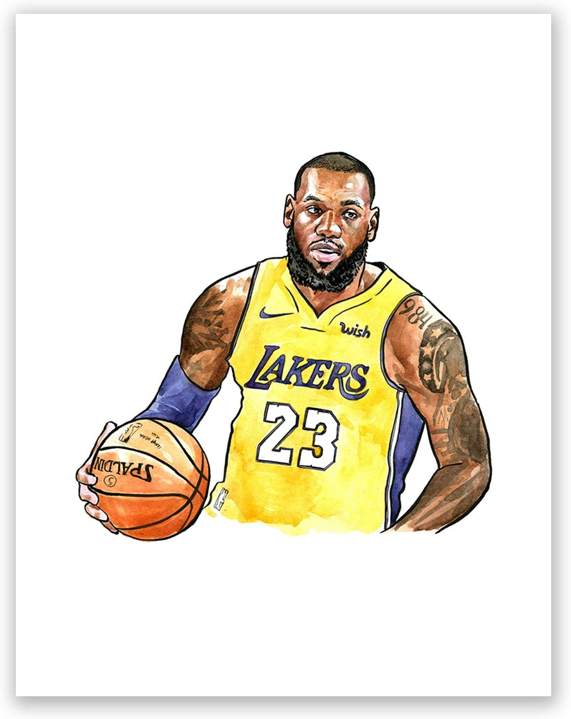 Amazon Com A48 Lebron James Poster Art Poprtrait Basketball Player Legends Picture Print Sport Lakers Home Bedroom Wall Decor Picture 8x10 Posters Prints