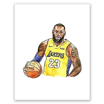 62a97e72f0400 Amazon.com: A48 Lebron James Poster // Art Poprtrait // Basketball ...