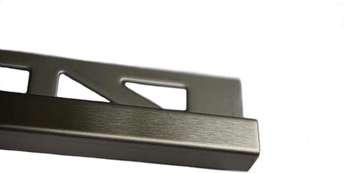 Ecken Q Edelstahl gebürstet V2A Fliesenprofil Fliesenleiste Fiesenschiene