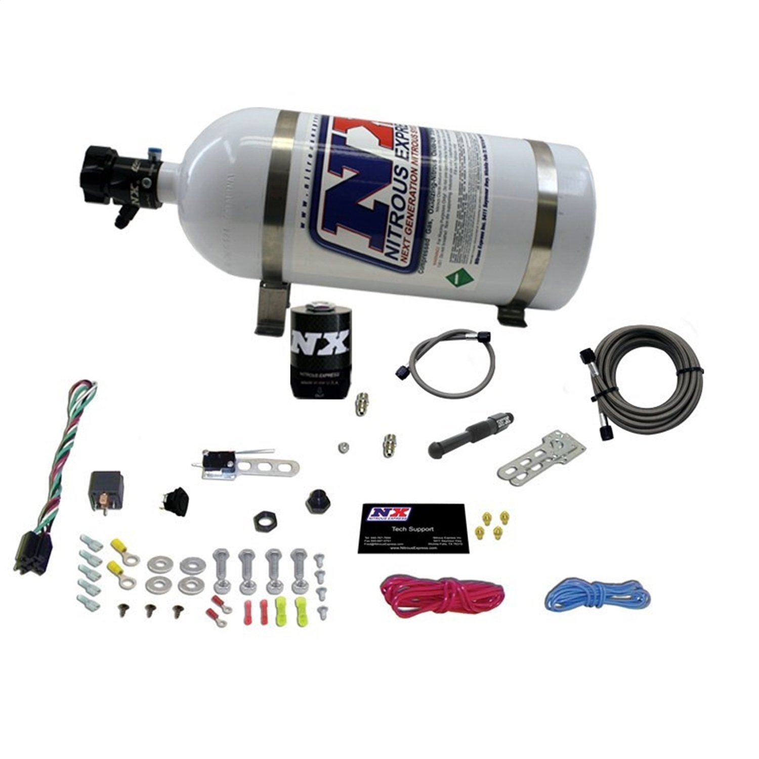 Nitrous Express 21000-10 35-150 HP Dry EFI Single Nozzle System with 10 lbs. Composite Bottle by Nitrous Express