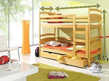 Etagenbett Schutzgitter : Bett malgosia etagenbetten kiefer 2 personen l : amazon.de: küche